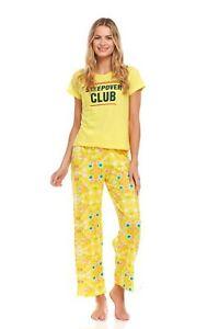 211P Women Short Sleeve Pants Set Sleepwear Pajamas Woman Sleep Nightshirt