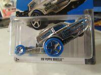 2016 Hot Wheels #43 Super Chromes 8//10 HW POPPA WHEELIE Gold Variant w//WhiteWhls