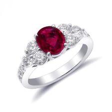 Natural Burma (Myanmar) Ruby 1.34 carats set in Platinum Ring