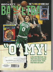 BECKETT BASKETBALL CARD MONTHLY PRICE GUIDE MAY 2021 JAYSON TATUM COVER
