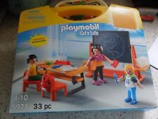 Playmobil - 5971 - City Life - School Classroom Carry Case Set - New
