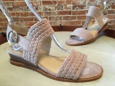 Vince Camuto Taupe Suede Raner Braided Low Wedge Sandals New
