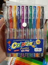 10pc Quality Glitter Gel PensWriting Drawing Pens.