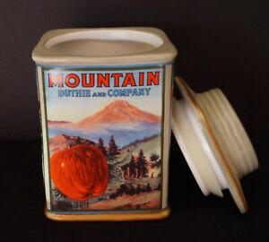Mountain Duthie & Company ~  Oneida Vintage Label Canister