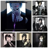 Black Butler Sebastian Michaelis Anime Wall Art Poster Scroll Home Decoration