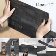 Black Brick Kitchen Tile Stickers Bathroom Self-adhesive Wall Decor 14Pcs/1㎡