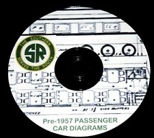 Southern Railroad 1957 Passenger Car Diagrams PDF Pages DVD
