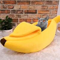 Banana Cama Para Gatos Perros, suave Cama cueva Nido Sofá con Cojín Cesta M L XL