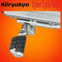 """Kuryakyn Chrome Dually ISO-Pegs With Offset & 1"""" Magnum Quick Clamps 7976"""