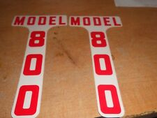 1955 1956 1957 FORD TRACTOR MODEL 800 TRACTOR DECALS PAIR - RED - NEW