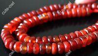 "5mm*8mm Genuine Faceted Red Jade Abacus Gemstone Loose Beads Strand 15"""