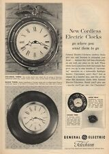1959 G.E. General Electric Colonial Times - Show Piece - Clock PRINT AD