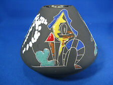 "Seltene / rare 50´s Keto Keramik Hans Welling ""Surreale"" Design vase   1002"