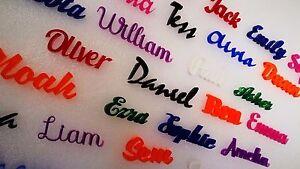 Script Names Letters Words Colour Acrylic Personalised Book Art Font Large XXL