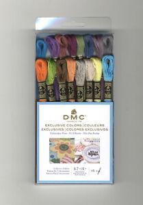 DMC 16 Exclusive Colors Cross Stitch Embroidery Floss Set #117F25CM16