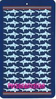 30 X 60 Inch Personalized Beach Pool Towel Shark Design New