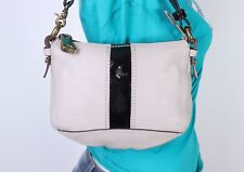 FOSSIL Fifty Four Very Small  Beige Leather Shoulder Hobo Tote Satchel Purse Bag