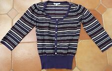 LAURA ASHLEY - Striped Jumper - £45 - Size 8 - three quarter sleeves