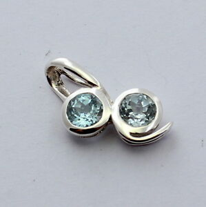 Blue Topaz Pendant IN 925 Silver Jewelry Ladies Gift