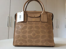 ORLA KIELY LEATHER MARGOT BAG. FAWN. BRAND NEW WITH TAGS AND DUST BAG. £399