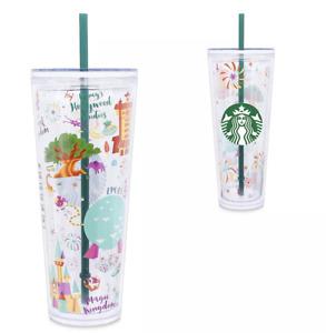 Disney Parks Walt Disney World Resort Locations Tumbler with Straw Starbucks New