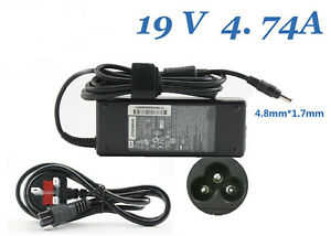 Replacement 19V 4.7A 4.8mm*1.7mm  Laptop charger for HP DV series AC Adapter