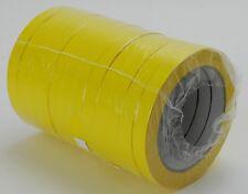 (0,00€/1m) 144x Klebeband 12mm x 66m PVC131 - gelb für Versiegelmaschinen