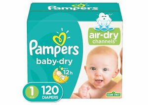 Pampers Baby Dry Diapers Super Pack - (Select Size) - Free Shipping!
