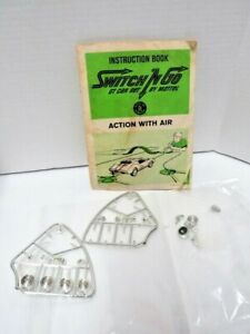 1965 Mattel Instruction Book Switch 'N Go GT Car Action With Air & Car Parts