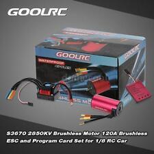 Genuine GoolRC S3670 2850KV Brushless Motor +120A ESC +Program Card D3X7
