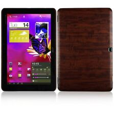 Skinomi Tablet Dark Wood Cover+Clear Screen Protector for Acer Iconia Tab A700