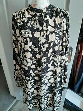 H&M Mama Black Floral Tunic Style Maternity Top Size Large Brand new With Tags
