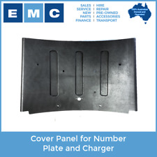 Cover Panel for Number Plate and Charger of Low Speed Electric Vehicles