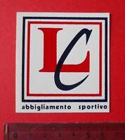 ADESIVO - STICKER - AUTOCOLLANT- LC ABBIGLIAMENTO - ANNI '80 - VINTAGE - 6x7 cm