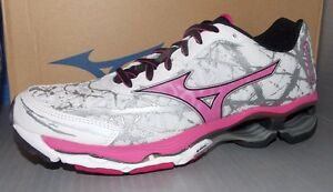 WOMENS MIZUNO WAVE CREATION 16 in colors WHITE / ROSE / BLACK SIZE 7.5