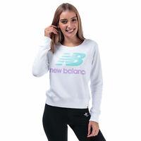 Womens New Balance Essentials Crew Sweatshirt In White