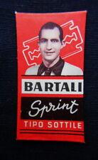1950s Italy advertising cycling razor blade GINO BARTALI red