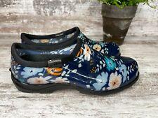 Women's Sloggers Rain and Garden Shoes - Floral Fun Blue - Size 9 M