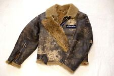 WWII British RAF Glider Crew Flight Jacket (Irvin Jacket) Shearling Leather VTG