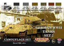 LIFECOLOR LFCS03 GERMAN TANKS WWII - SET 2