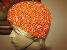 4cf74db65080f NEW Crochet Fitted Ski Cap Handmade in USA Men Women Teen Orange