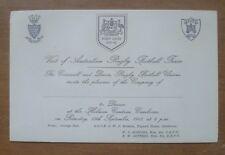 Cornwall & Devon v Australia, 13/09/1947 - Dinner Invite.