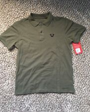 True Religion Crafted with Pride Polo Shirt Militart Green Men's Medium-NWT $79