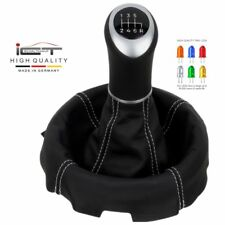 ICT gear shift knob gaiter boot LED Mazda RX 8 100% leather stitch silver new 44