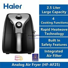 Haier 2.5L Analog Air Fryer - 4 Functions (Fry, Roast, Grill & Bake)