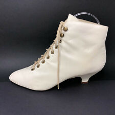 Amanda Smith Womens 8 White Lace Up Cosplay Stage Lace Up Boots