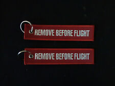 Cloth Keyring - RBF/RBF - Remove Before Flight on both sides
