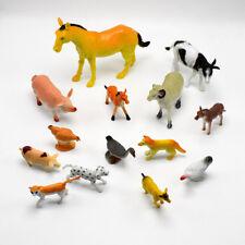 14 Stücke PVC Bauernhof Tiere Pferd Schwein Modell Action Figure Kid Spielzeug