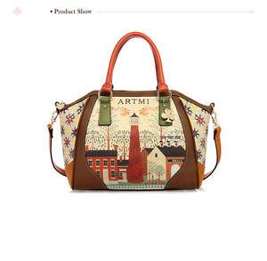 NEW Vintage Handbag Shoulder Bags Tote Purse Synthetic Leather Messenger Bag
