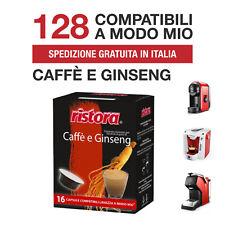 128 Capsule Caffè al Ginseng Ristora compatibili Lavazza A Modo Mio